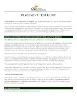 Overview   placement test