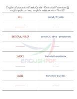 Vocabulary flash cards   chemical formulas31