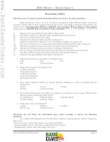 RRB officers model paper 1