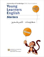 University of Cambridge ESOL Examinations Young Learners English Starters