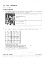 Of mice and men worksheet