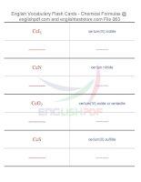 Vocabulary flash cards   chemical formulas63
