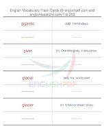 TOEFL IBT vocabulary flash cards253
