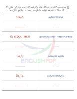 Vocabulary flash cards   chemical formulas121