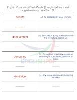 TOEFL IBT vocabulary flash cards152