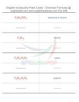 Vocabulary flash cards   chemical formulas48