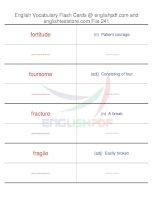 TOEFL IBT vocabulary flash cards241