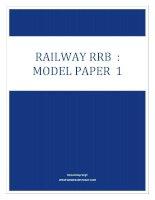 Railways RRB model