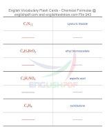 Vocabulary flash cards   chemical formulas43