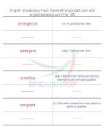TOEFL IBT vocabulary flash cards195