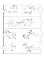 52466 farm animal minibook