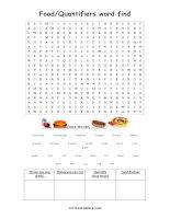Food wordsearch