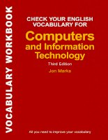 Computers  IT check yr vocab