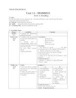 Giáo án Tiếng Anh 11 unit 13: Hobbies