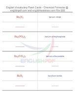 Vocabulary flash cards   chemical formulas28