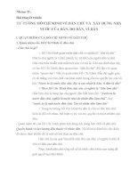 TƯ TƯỞNG HỒ CHÍ MINH VỀ DÂN CHỦ VÀ  XÂY DỰNG NHÀ NƯỚC CỦA DÂN, DO DÂN, VÌ DÂN