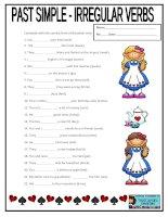 69380 past simple irregular verbs