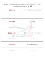 TOEFL IBT vocabulary flash cards166