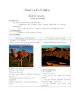 Giáo án Tiếng Anh 12 unit 9: Deserts