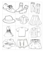 54159 small flash cards with clothes