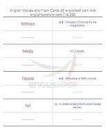 TOEFL IBT vocabulary flash cards230