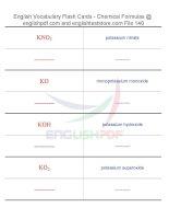 Vocabulary flash cards   chemical formulas140