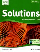 Solutions elementary 2nd ed SB