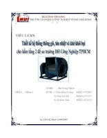 Tiểu luận Thiết kế hệ thống thông gió tản nhiệt và khử khói bụi cho hầm tầng 2 để xe trường ĐH Công nghiệp TPHCM