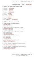test simple past en answers