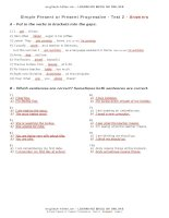 test simple present progressive2 en answers