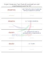 TOEFL IBT vocabulary flash cards167