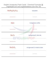 Vocabulary flash cards   chemical formulas155