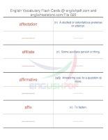 TOEFL IBT vocabulary flash cards20