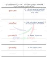 TOEFL IBT vocabulary flash cards250