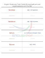 TOEFL IBT vocabulary flash cards226