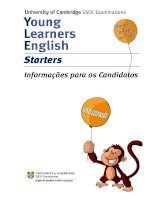 University of Cambridge ESOL Examinations Young Learners English Starters Informações para os Candidatos