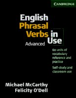 Advanced phrasal verbs in use