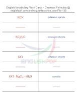 Vocabulary flash cards   chemical formulas138