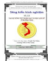 skkn tạo sự hứng thú trong dạy và học lịch sử ở trường THCS