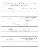 TOEFL IBT vocabulary flash cards331
