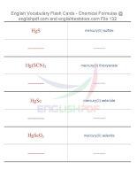 Vocabulary flash cards   chemical formulas132
