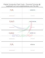 Vocabulary flash cards   chemical formulas40