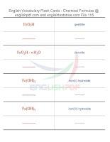 Vocabulary flash cards   chemical formulas116
