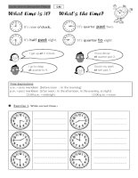 TELLING TIME lesson and exercises