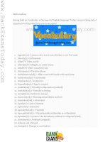 PDF of 190 vocabulary words