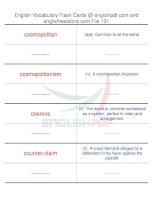 TOEFL IBT vocabulary flash cards131