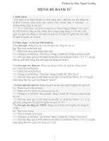 LÝ THUYẾT MỆNH đề DANH từ và MỆNH đề TRẠNG từ   m CƯỜNG