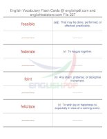 TOEFL IBT vocabulary flash cards227