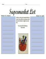 5273 mammys supermarket list