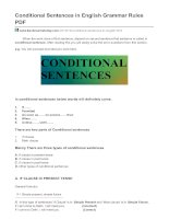 Conditional sentences in english grammar rules